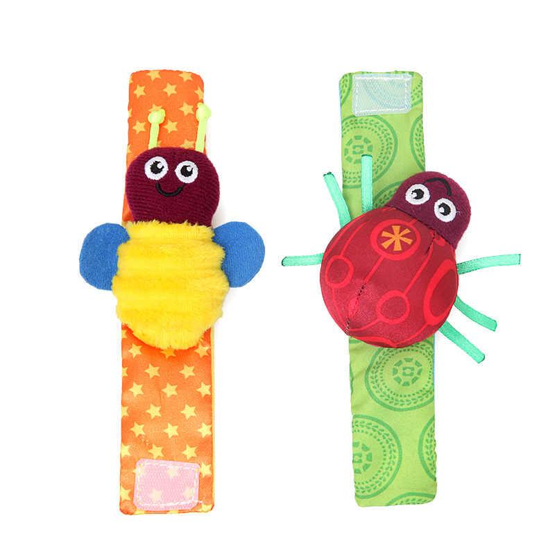 1 คู่ตุ๊กตาเด็กนาฬิกาข้อมือถุงเท้าของเล่นสร้อยข้อมือ Rattles การ์เด้นปกป้องนาฬิกาข้อมือสัตว์นาฬิกาข้อมือลายเท้าถุงเท้าของขวัญ