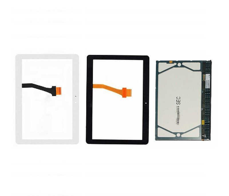 شاشة الكريستال السائل لوحة شاشة رصد وحدة محول الأرقام بشاشة تعمل بلمس الزجاج الاستشعار لسامسونج غالاكسي تبويب 2 10.1 P5100 P5110