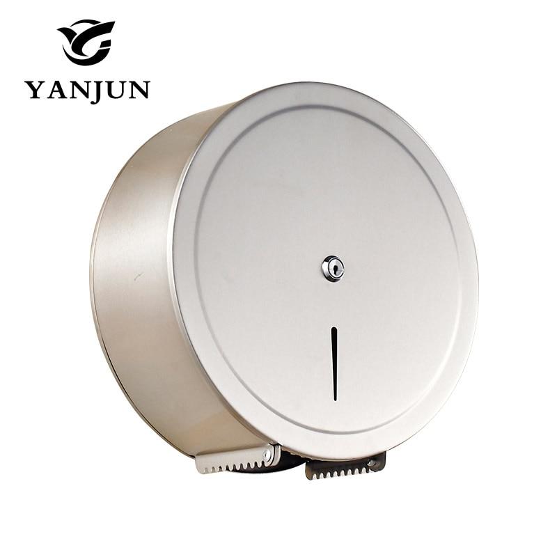 Yanjun Jumbo Roll Holder Stainless Steel Paper Towel Rack Tissue Holder for Professional Bathroom YJ-8623