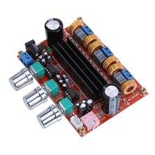 New Arrival TPA3116D2 50Wx2 100W 2 1 Channel Digital Subwoofer Amplifier Board 12V 24V Power Audio
