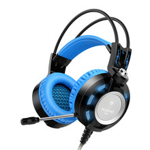 Newest Headphone Gaming Headset with Microphone 3.5mm Stereo Noise Cancell Game Earphone Glowing LED Light USB for PC gamer