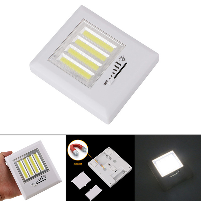 Magnetic ultra bright 4 x cob led wall light night lights camp lamp magnetic ultra bright 4 x cob led wall light night lights camp lamp battery operated with aloadofball Choice Image