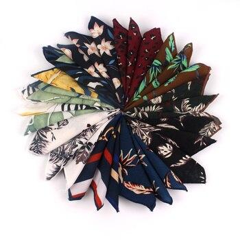 Fashion Floral Pocket Square For Men Women Print Suits Hanky Mens Handkerchiefs Suit Square Handkerchief Towels Scarves For Man