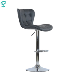 ¡Novedad de 95511! Taburete de bar giratorio de cocina de cuero Barneo N-30, silla de Bar de color gris claro, Envío Gratis en Rusia