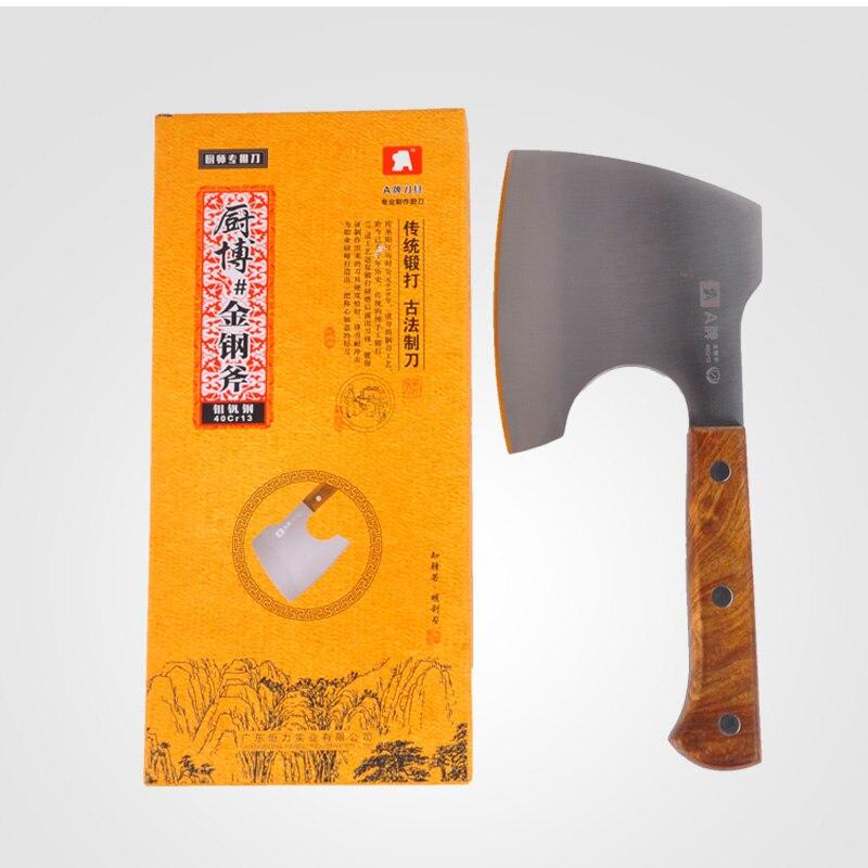 Фирменный нож для мясника 40Cr13 из нержавеющей стали, разделочный нож для Кливера, инструмент для приготовления пищи, отличная Подарочная коробка, кухонный нож с деревянной ручкой Ax - 6