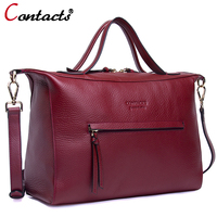 Contact S Crossbody Bags For Women Messenger Bags Genuine Leather Handbag Designer Large Capacity Shoulder Bag