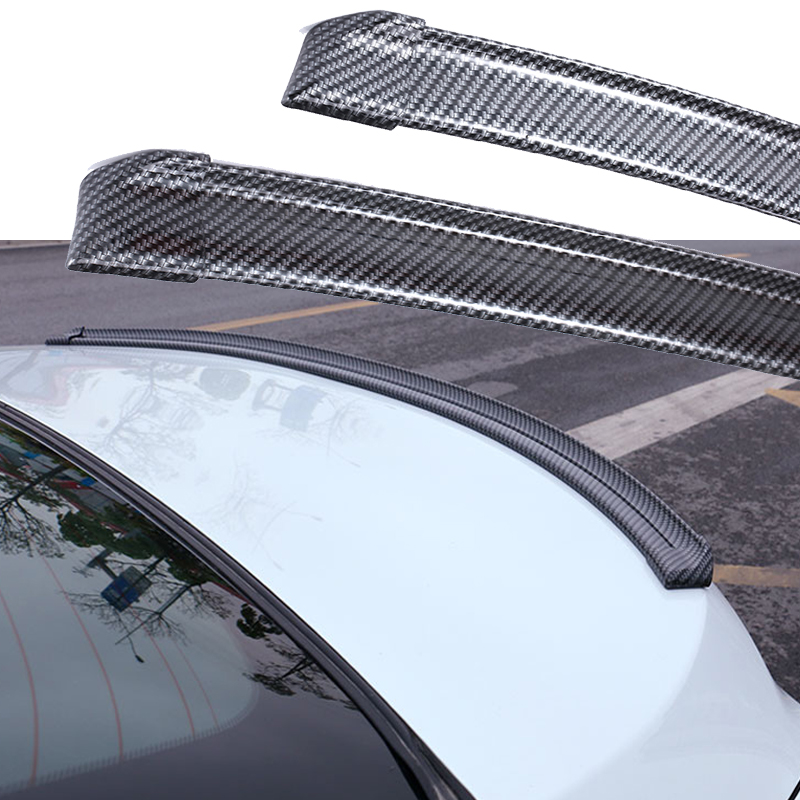 1.5M Car Roof Stickers Rear Wing Lip Spoiler Tail Trunk Boot Roof Trim Kit Universal For BMW Toyota Car Styling