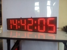 large size 8inch height character red hours,minutes and seconds  LED clock (HST6-8R),12H/24H,free shipping