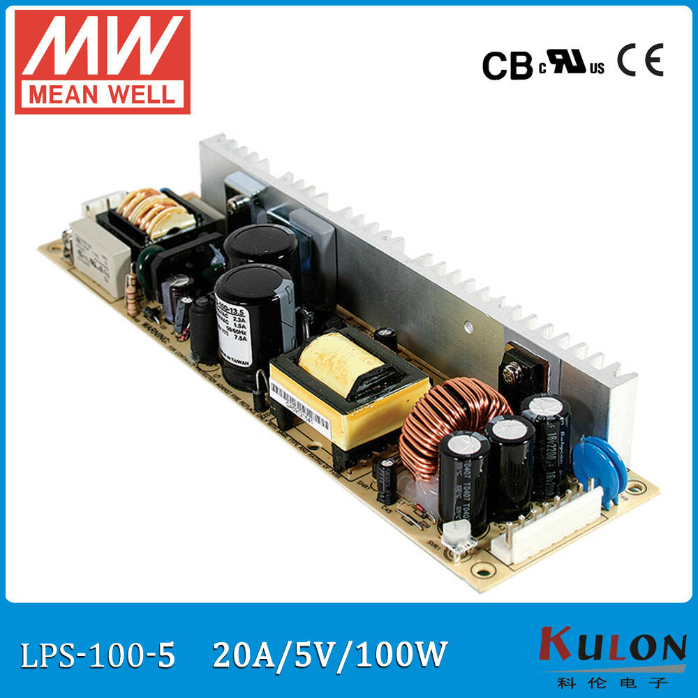 Original MEAN WELL LPS-100-5 single output 20A 100W 5V Meanwell Power Supply open frame LPS-100