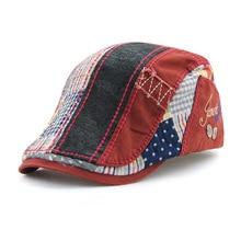 Adjustable Vintage Plaid Berets Caps Fashion Visor Hat for Men Beret W