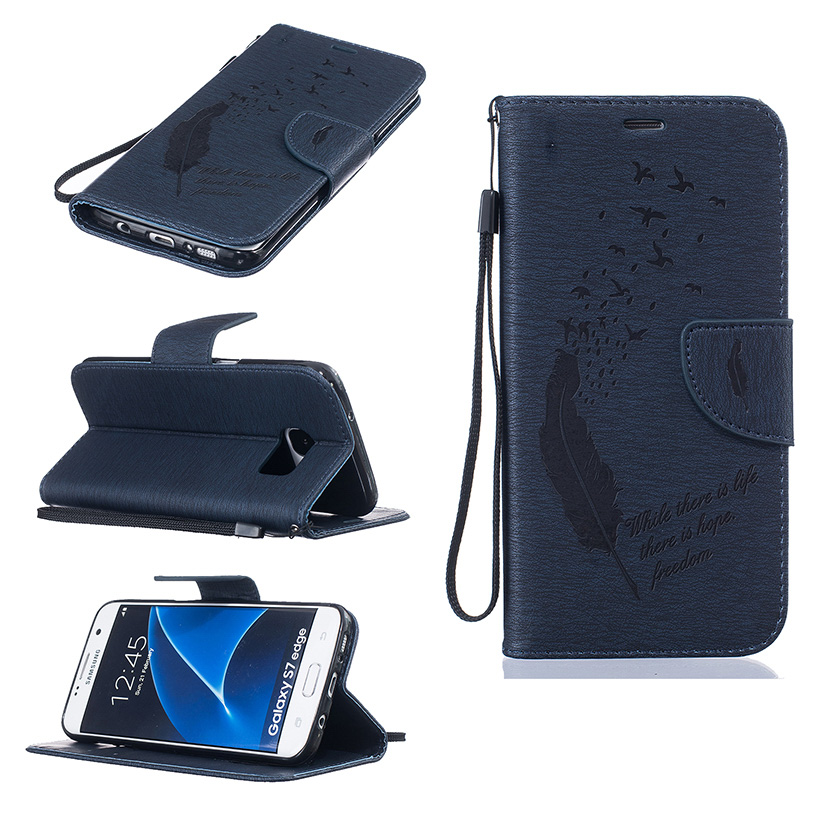 Luxury PU Leather Stand Flip Wallet Mobile Phone Case For Samsung Galaxy S7 Edge G935A G935F G9350 M-G935A Skin Covers Bags Hood