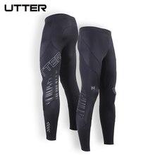 2016 UTTER J13 Men's Long Black Feature Running Tights Sport Fitness Leggings Compression Sportswear Mens Leggings Tights Pantys