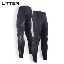 UTTER J13 Men s Long Black Running Tights Sport Fitness Leggings Compression Sportswear Pants