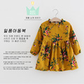 With velvet cotton thickened dress new winter Princess Dress Girls.