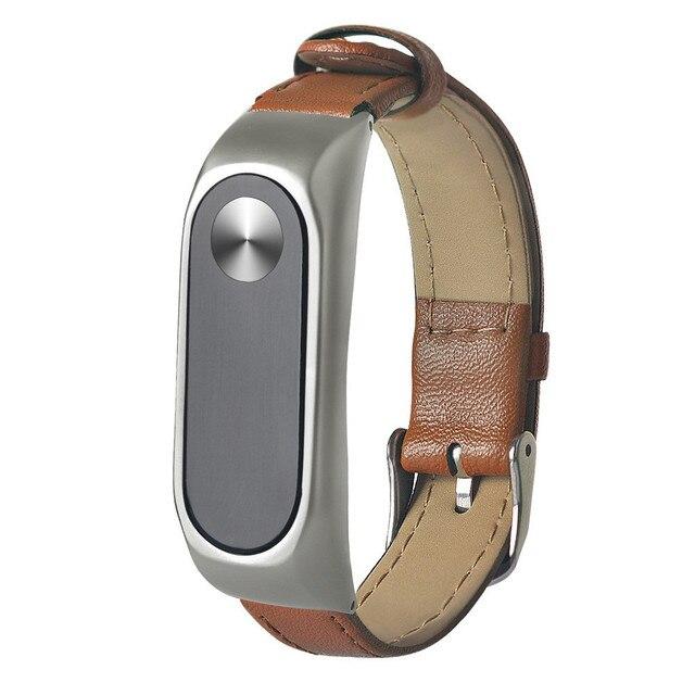 GEMIXI  Watchbands Watch Strap  Business Lightweight Leather Bracelet   Adjustable Replacement For XIAOMI MI Band 2