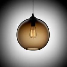 hot deal buy loft antique vintage industrial 6 color glass ball pendant lights fixtures for kitchen restaurant dining/living room cafe bar