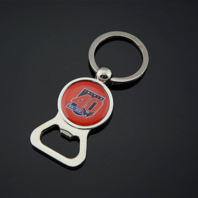 100x custom logo printed bottle opener key chain with epoxy resin sticker promotional keyring beer