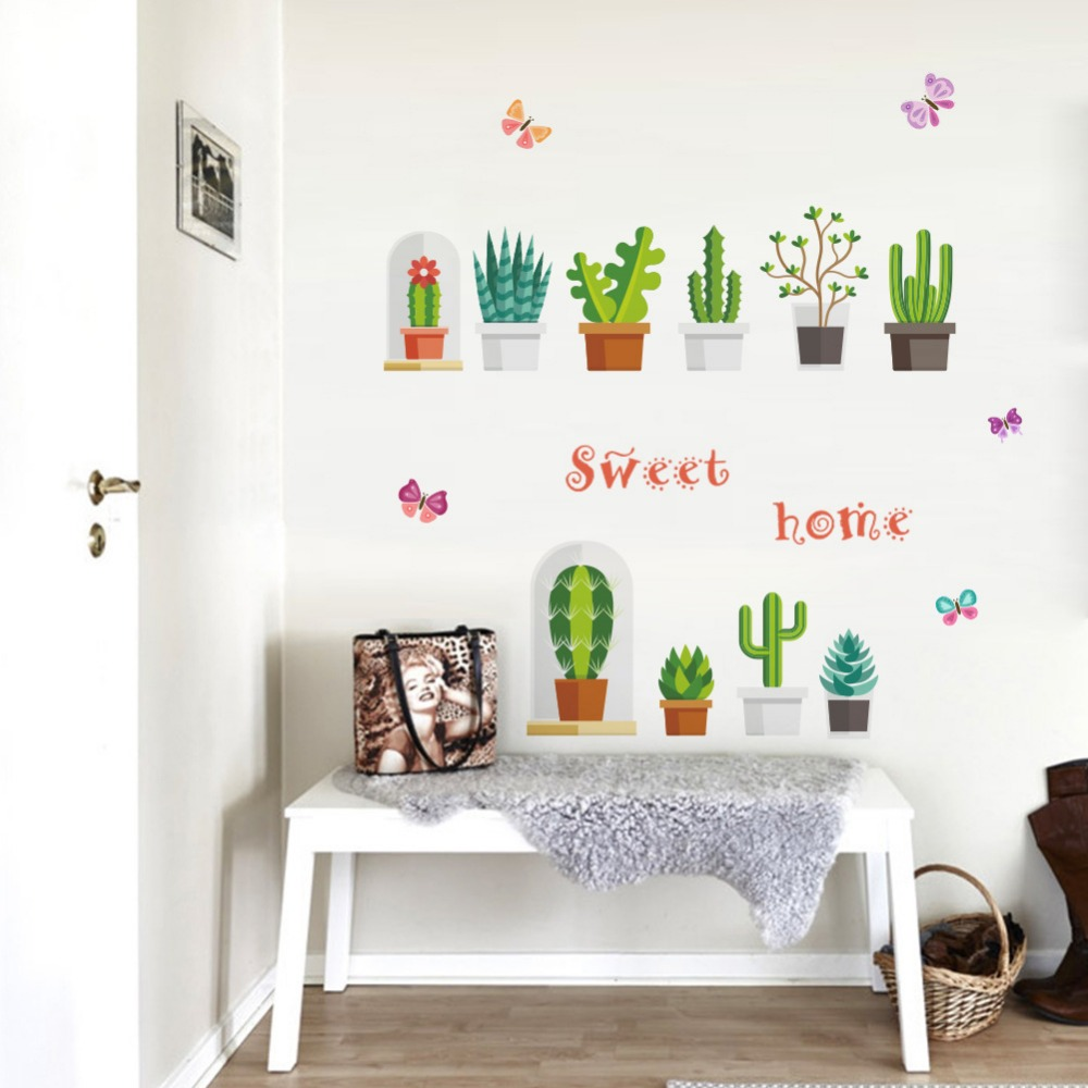Aliexpress.com : Buy Potted Plants Sweet Home Decor Wall