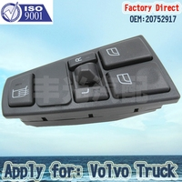 Factory Direct Truck parts Window regulator Switch 20752917 Apply for VolvoFL7 FM7 9 10 12 Power Window Switch for Volvo