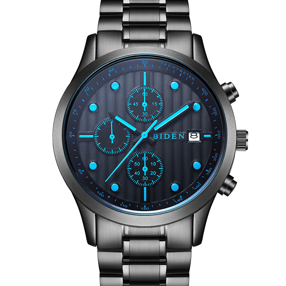 Prix pour Top Marque De Luxe Montres Hommes Chronographe Sport Quartz De Mode de Montre Hommes D'affaires Horloge Homme Relogio Masculino Relojes esportivo