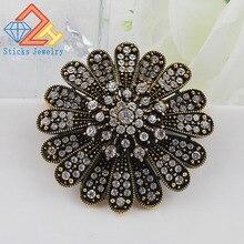 Alloy full diamond flower brooch alloy flower brooch