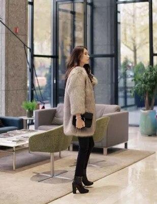 Manteau Fausse En Style Sn 62 Mode Gamme Haut Nouveau De Femmes Fourrure KCTqR67w1