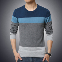 M-5XL!!!The new spring men's fashion high-grade leisure round collar large size color matching sweater men men sweater brand
