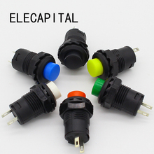 10pcs Red Green Yellow black white Blue 12MM Self Return Momentary Push Button Switch