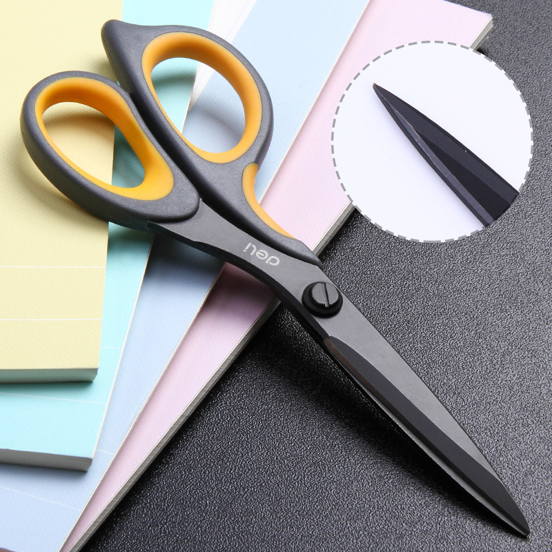 Balck Teflon Scissors 6027 Coated Soft-touch 175mm 6-4/5 Inch Home Office School Hand Craft Scissors Stationery