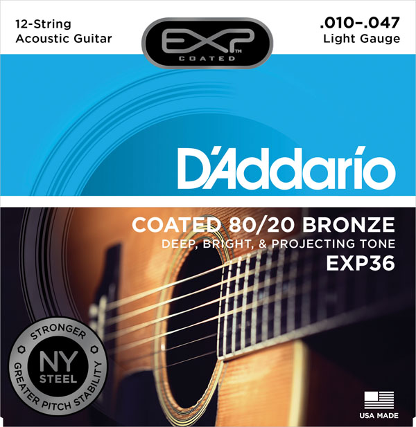 D'Addario EXP gecoate 80/20 Bronze akoestische gitaarsnaren, EXP10 - Muziekinstrumenten - Foto 6