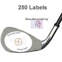 גולף השפעה תוויות יעד מדבקת קלטת, חבילה של 250 PCS