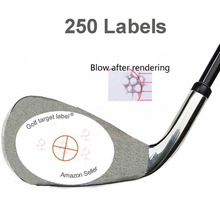 Record Practice Golf Training Sport Golf Impact Labels Target Sticker Tape Pack of 250PCS Modern Golf Clubs Stickers