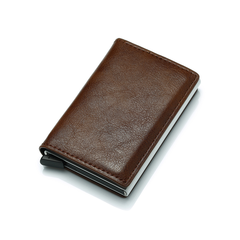 Mens Small Slim Leather Wallets Rfid Card Holder 38