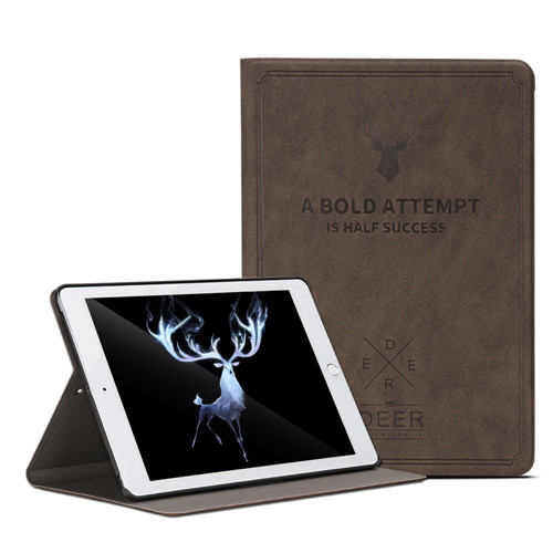 Dark Brown Brown Case For iPad 7th Gen 10 2 2019 Aiyopeen Smart Flip Holder Stand Cover for ipad
