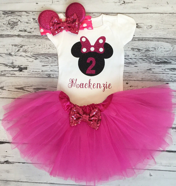 personalized name minnies mouse bow first birthday bodysuit onepiece cake  mesh Tutu toodles Outfit Set baby shower party favors -in Party Favors from  Home ... 93847e4583f7