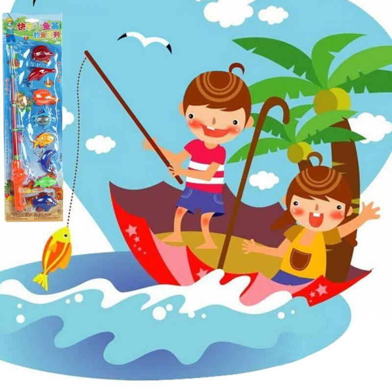 Hot-Sell-Magnetic-1-Rod-8-Fish-Catch-Hook-Pull-Baby-Children-Bath-Fishing-Game-Set-Outdoor-Fun-Toys-Fishing-Toys-FL-1