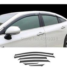 Para Toyota Avalon XX50 2018 2019 2020, cubierta de coche, pegatina, lámpara, ventana de plástico, Visor de viento, lluvia, protector de Sol para ventilación, 6 uds