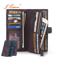J Quinn Luxury Women Travel Wallets Modern Ladies Hand Stained Italian Leather Wallet 26 Cards Slot