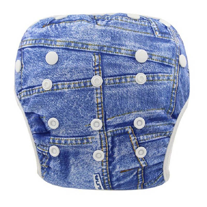Ohbabyka Waterproof Swim Diapers Pool Pants Unisex Baby Cloth Nappies Cover