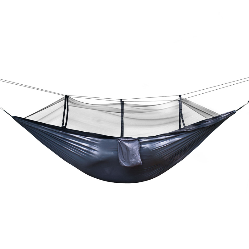 210T NylonPortable Hammock Double Folded Person In Bag Mosquito Hamac Hook Hanging Bed For Camping Travel Kits Outdoor Camping