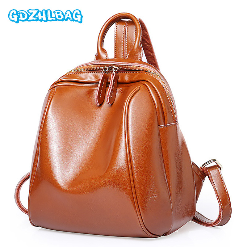 Fashion Women Backpack Female Genuine Leather Backpacks for Girls Teenagers Schoolbag Small Backpack Ladies Shoulder Bag B248 2016 fashion women backpack genuine leather female college wind schoolbag for girls women preppy style ladies travel backpacks
