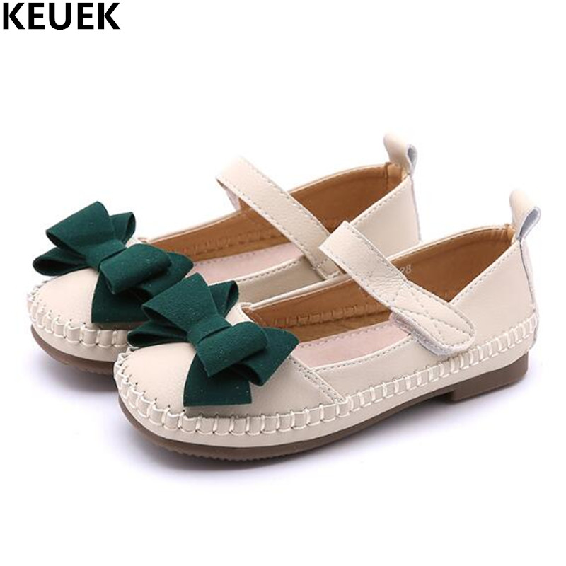 New Spring Autumn Leather Shoes Children Princess Bowknot Dance Shoes Girls Baby Fashion ...