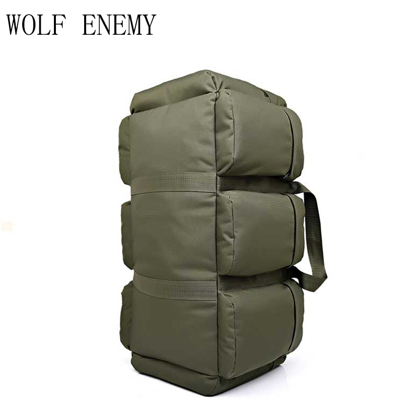 2018 New High Quality 90L Large Capacity Military Travel Bags Oxford/canvas Backpack Camouflage Duffel Bag Waterproof Backpack