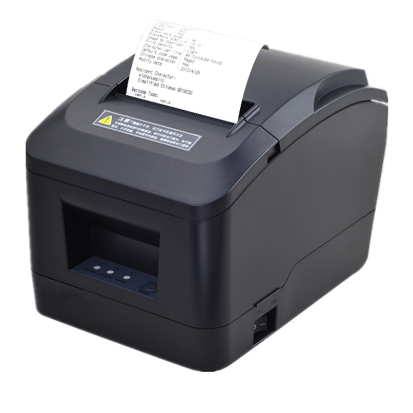 High Quality 80mm  Bill Receipt Printer Small Ticket POS Printer Supermarket Retail Store Thermal Print A160M Automatic Cutting