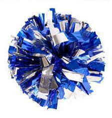 blue silver Small cheer pom poms 5c64fbbde3eae
