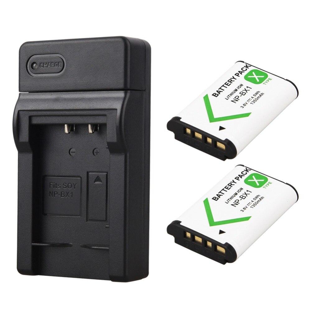 Más nuevo 2x1350 mAh NP-BX1 NP BX1 NPBX1 batería para Sony DSC RX1 RX100 M3 M2 RX1R GWP88 PJ240E AS15 WX350 WX300 HX300 HX400