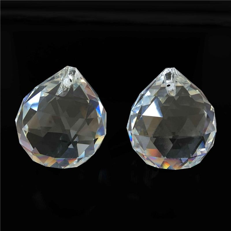 1PC / Lot 80 մմ Crystal Glass Fengshui Facized Prism - Տոնական պարագաներ - Լուսանկար 2
