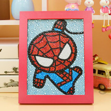 Good Diy 5D Diamond Painting Cartoon Spiderman Full Embroidery Shining Round Rhinestone Room Decoration15*20cm