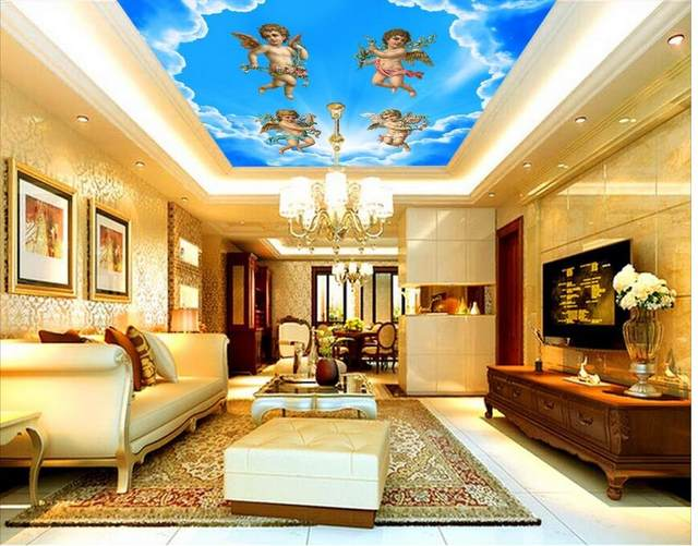 Online Shop Blue and white angel painting the ceiling Angel