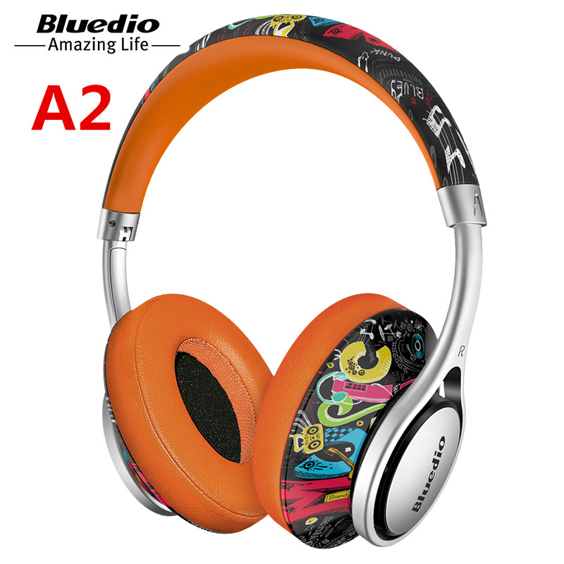 Bluedio A2 headphone Portable Bluetooth Headset Wireless Headphones for music and phone with microphone bluetooth earphone you first bluetooth earphone headphone for phone wireless bluetooth headphone sport stereo magnet headphones with microphone